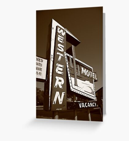 Route 66 - Western Motel Greeting Card