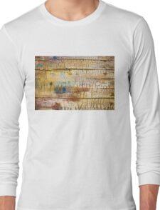 Wood background - Vintage textured wallpaper Long Sleeve T-Shirt