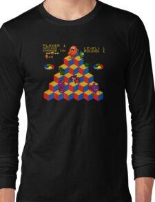 Q*Bert - Video Game, Gamer, Qbert, Orange, Black, Nerd, Geek, Geekery, Nerdy Long Sleeve T-Shirt