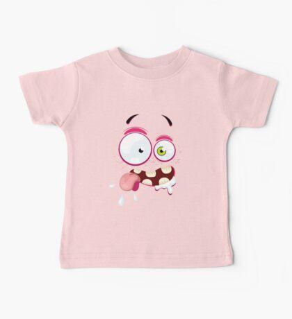 Cartoon face with crazy Baby Tee