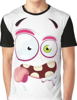 Cartoon face with crazy Graphic T-Shirt