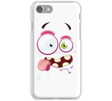 Cartoon face with crazy iPhone Case/Skin