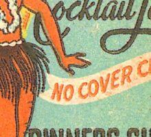 Bali Hula Dancer Cocktail Lounge Ad - Vintage Matchbook Cover Sticker