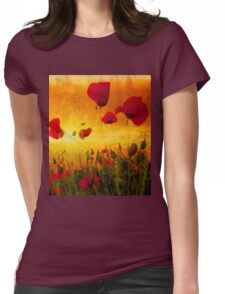 Poppy Sunset Womens Fitted T-Shirt