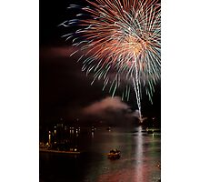 Fireworks over Ohio River Photographic Print
