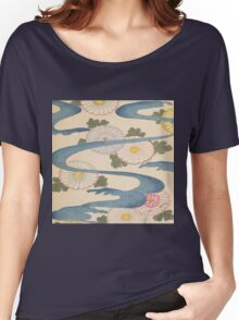 Vintage Japanese pattern,asian art,old,worn,original,reproduction Women's Relaxed Fit T-Shirt