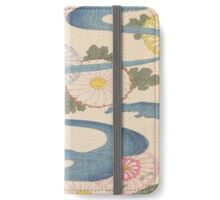 Vintage Japanese pattern,asian art,old,worn,original,reproduction iPhone Wallet/Case/Skin