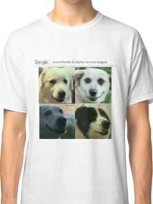 Uncomfterble & Slightly Nervous Doggos Classic T-Shirt