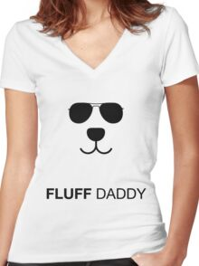 Fluff daddy Women's Fitted V-Neck T-Shirt