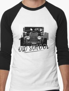 Old School-Hot Rod Men's Baseball ¾ T-Shirt