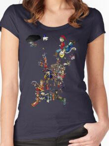 Renaissance Europe National Personification Map Women's Fitted Scoop T-Shirt