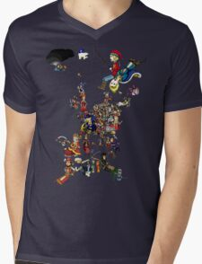 Renaissance Europe National Personification Map Mens V-Neck T-Shirt