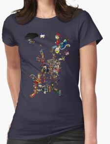 Renaissance Europe National Personification Map Womens Fitted T-Shirt