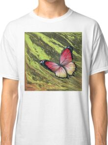 Pink Butterfly, Acrylic Painting Classic T-Shirt