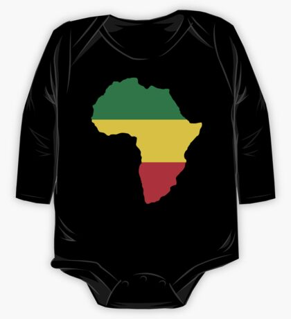 Green, Gold & Red Africa Flag One Piece - Long Sleeve