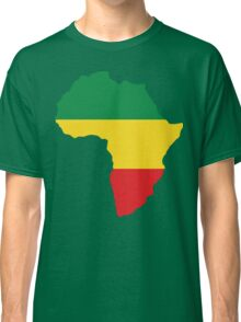 Green, Gold & Red Africa Flag Classic T-Shirt