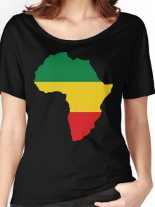 Green, Gold & Red Africa Flag Women's Relaxed Fit T-Shirt