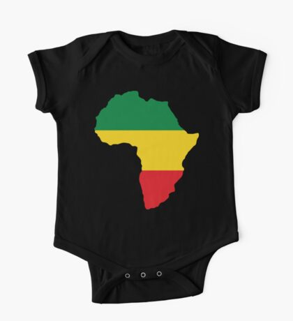 Green, Gold & Red Africa Flag One Piece - Short Sleeve