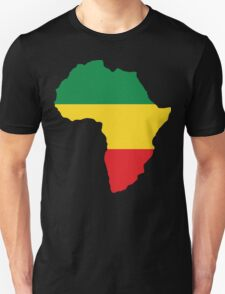 Green, Gold & Red Africa Flag Unisex T-Shirt