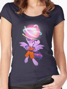 Best Princess just Saiyan Women's Fitted Scoop T-Shirt