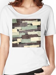 Textured Layers Abstract Women's Relaxed Fit T-Shirt