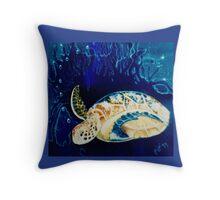 arthurs turtle, light Throw Pillow