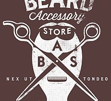 Beard Accessory Store logo - dark background by GraficBakeHouse