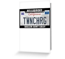 License Plate w/ Frame - TWINCHARGED Greeting Card