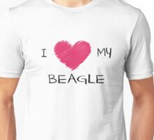 I Love My Beagle Cute Dog Lover Design Unisex T-Shirt