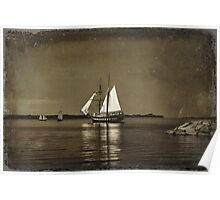 Tall ships - textured Poster