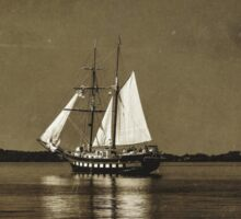 Tall ships - textured Sticker