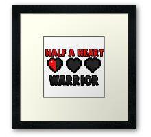 Half A Heart Warrior - Minecraft T-Shirt Framed Print