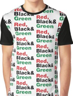 Red, Black & Green. Graphic T-Shirt