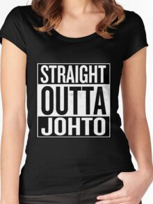 Straight Outta Johto Women's Fitted Scoop T-Shirt