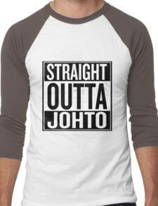 Straight Outta Johto Men's Baseball ¾ T-Shirt