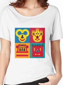 Happy Town Faces 2 Women's Relaxed Fit T-Shirt
