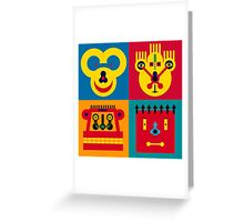 Happy Town Faces 2 Greeting Card