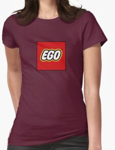 EGO - parody of the LEGO logo Womens Fitted T-Shirt