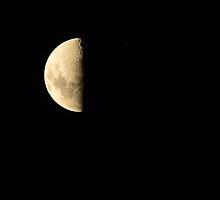 Start of Occultation of Saturn - Just before full Sunset by Sandra Chung