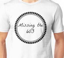 Missing the 603 black and white minimalistic nautical Unisex T-Shirt