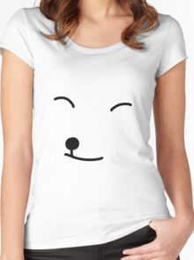 Smiley Fox Women's Fitted Scoop T-Shirt