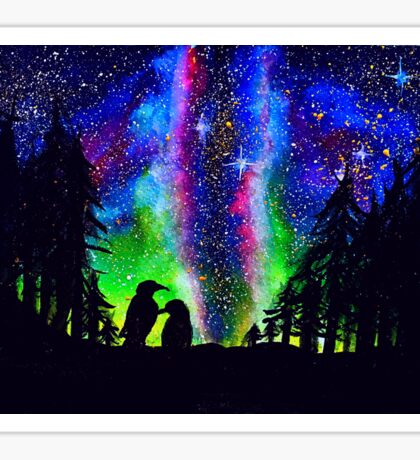 Milky way x pinguin  Sticker