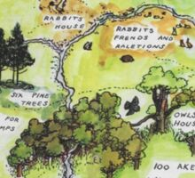 Hundred Acre Woods Map- Winnie the Pooh Sticker