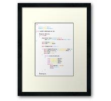 Bohemian Rhapsody in code Framed Print