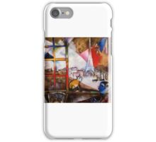 Paris in the style of Chagall iPhone Case/Skin