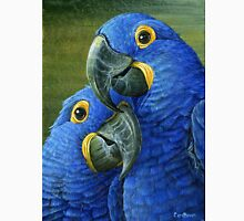 Hyacinth Blue Macaw, parrot painting Unisex T-Shirt