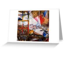 Paris in the style of Chagall Greeting Card