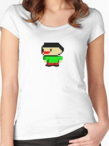David's Manyland Character Women's Fitted Scoop T-Shirt