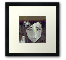gothic,dark,abstract art,waiting,drawing,contemporary art Framed Print