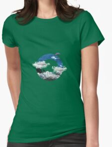 A circle of mountain and sea Womens Fitted T-Shirt